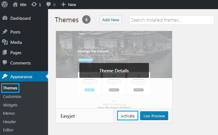How to Install WordPress Theme on Local Server (based on WAMP) - Zemez WordPress
