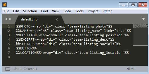 Use TMPL Files in Cherry Team Members