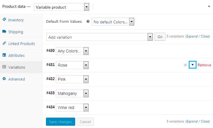 Create Variable WooCommerce Products