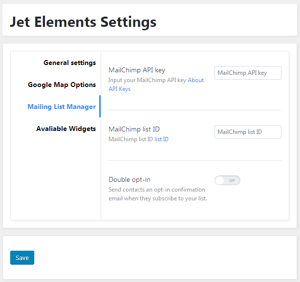 How to Add and Setup MailChimp Form Using Elementor - Zemez