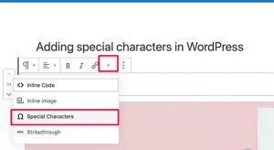 add special characters