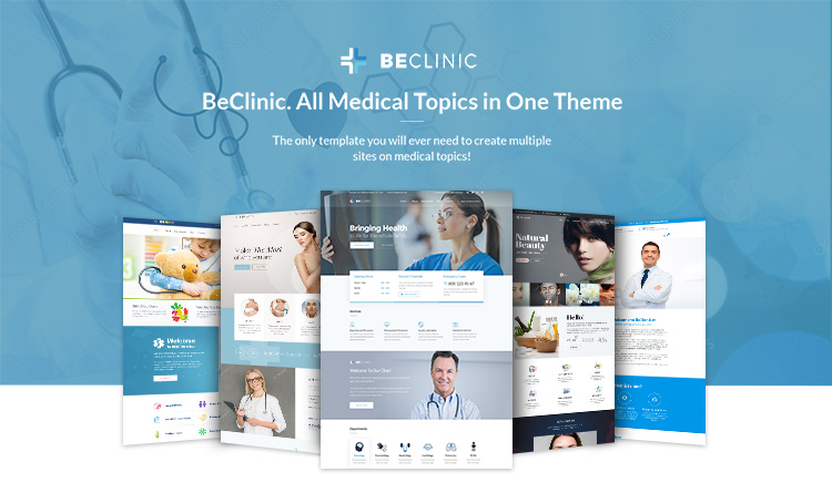 BeClinic. A Truly Multipurpose Medical Template