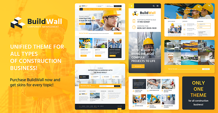 BuildWall. Your Perfect Choice of a Construction Multipurpose Theme
