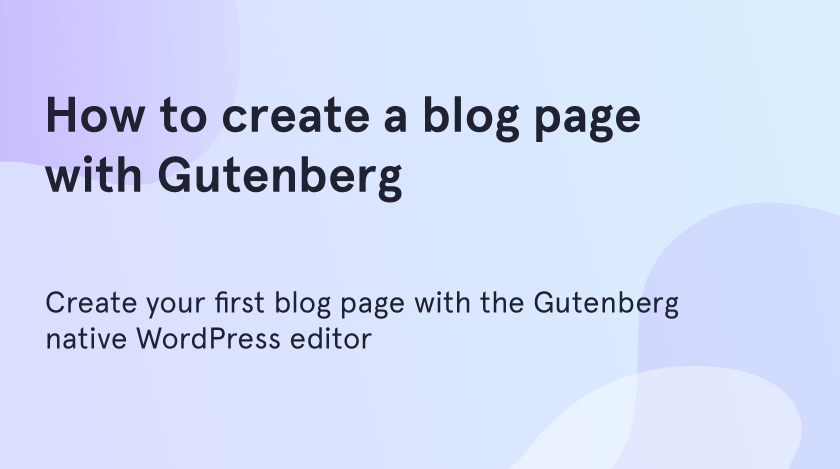 create a blog page