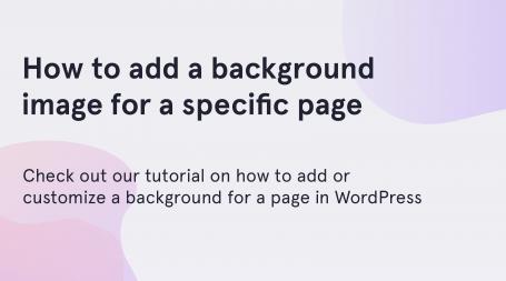 WordPress background image