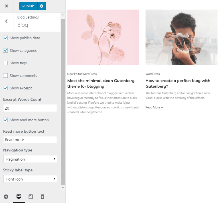 other blog settings