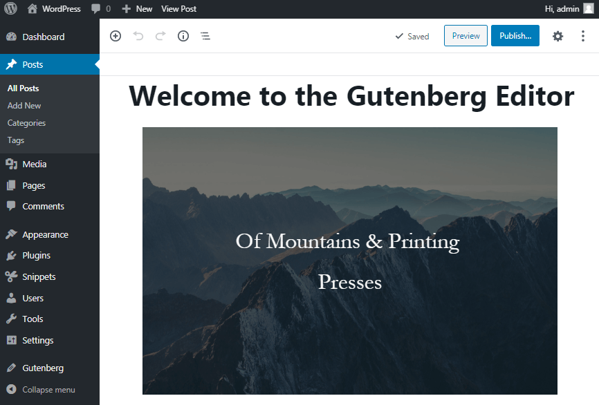 Gutenberg optimized