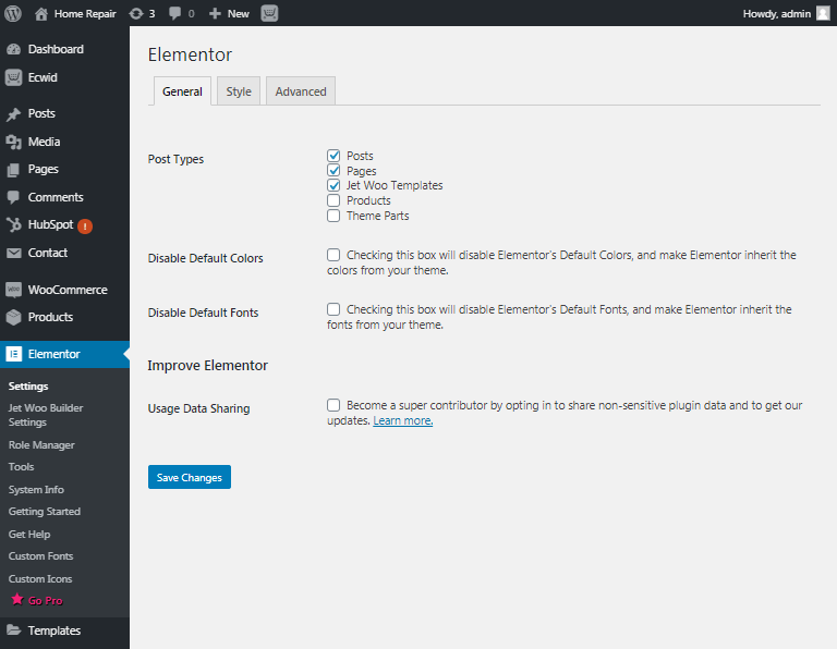Issues after updating to Elementor Pro