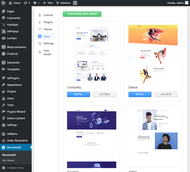 Business WordPress theme Meltony