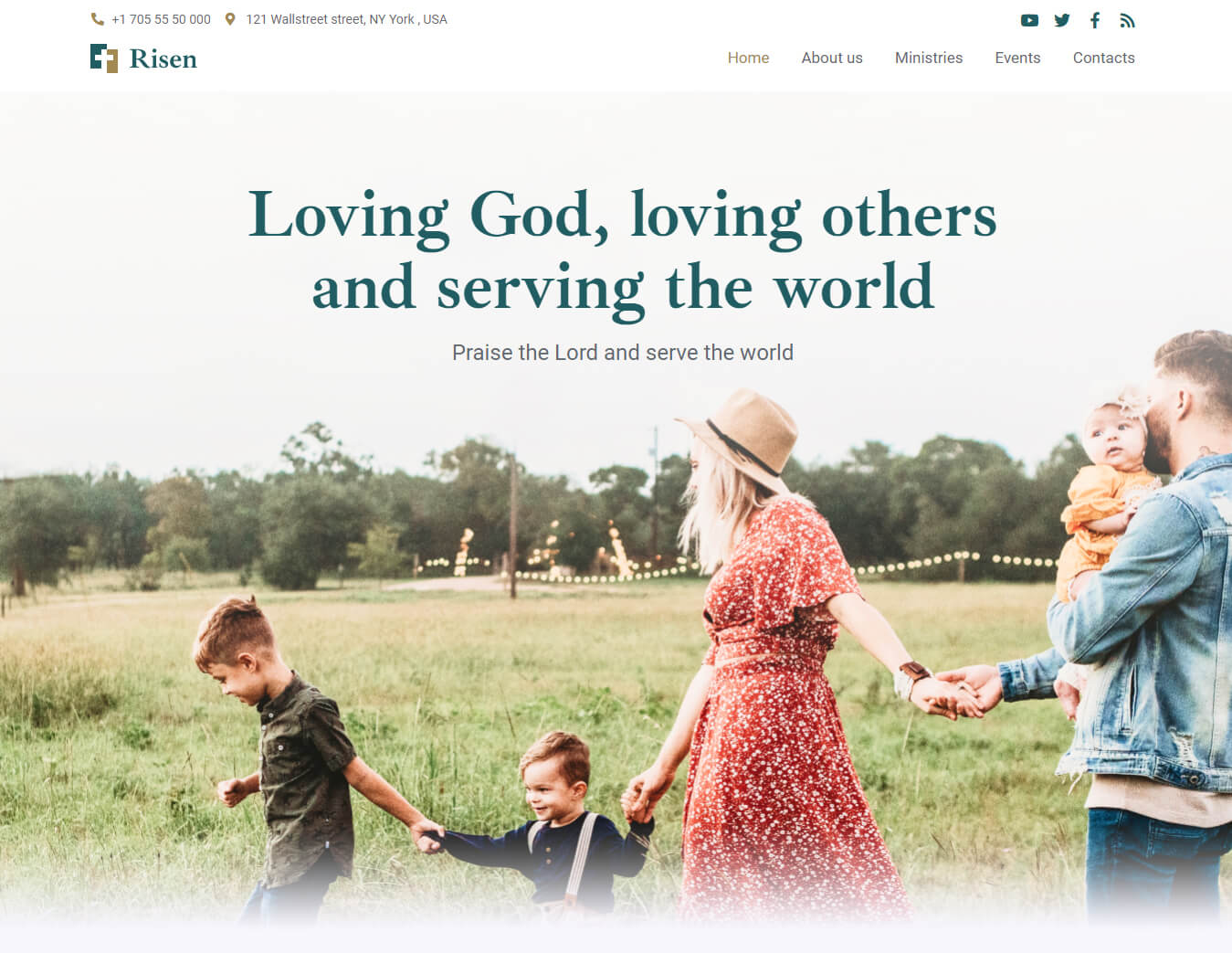 wordpress church website themes
