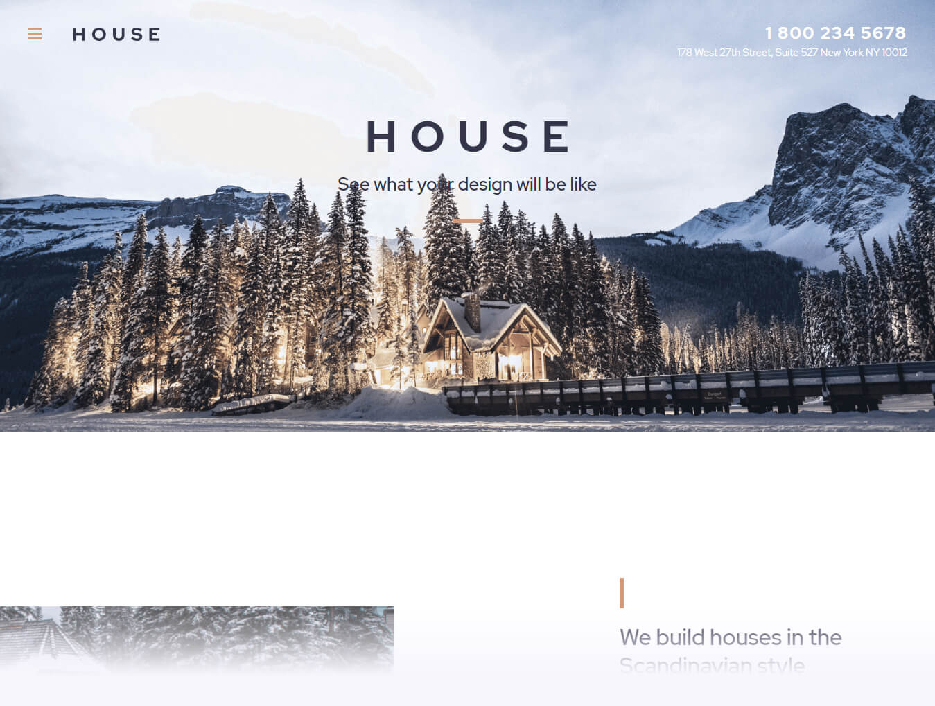 House fullscreen WordPress theme