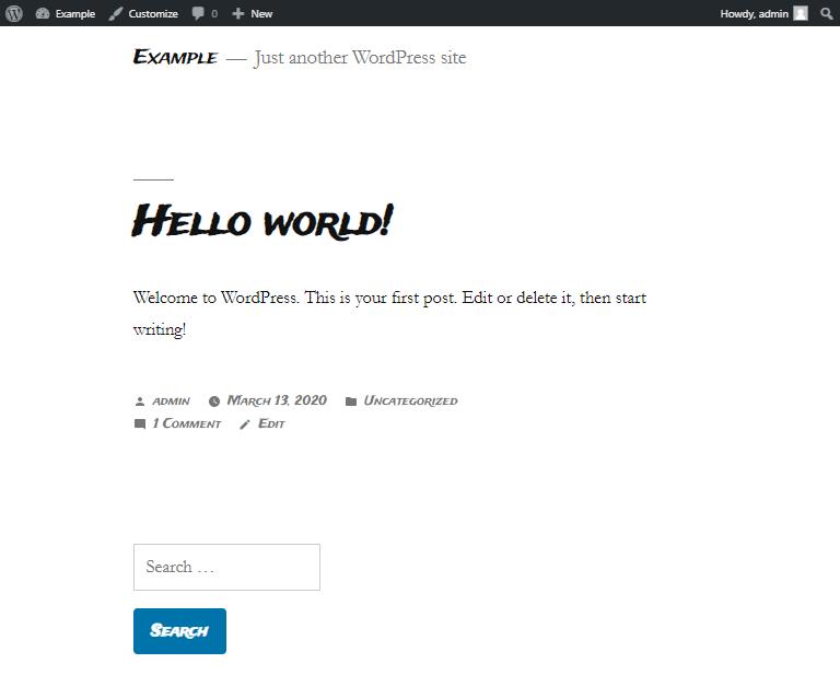 wordpress google font