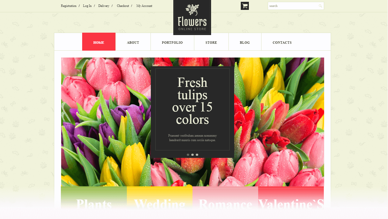 WordPress Themes for Flower Shop