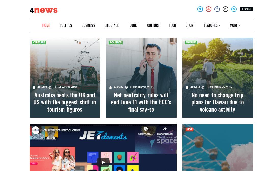 4news best WordPress magazine theme