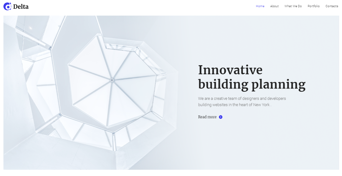 Delta architecture WordPress theme