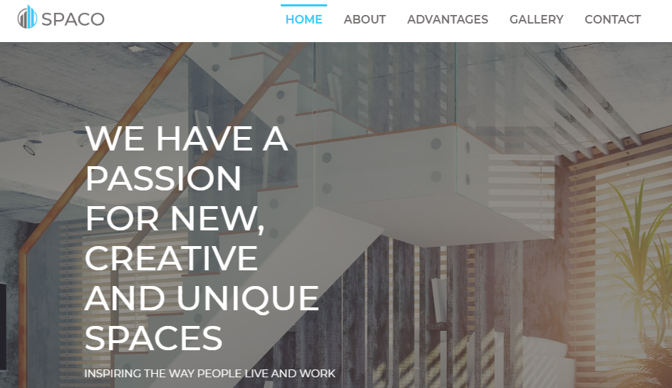 Spaco architecture WordPress theme