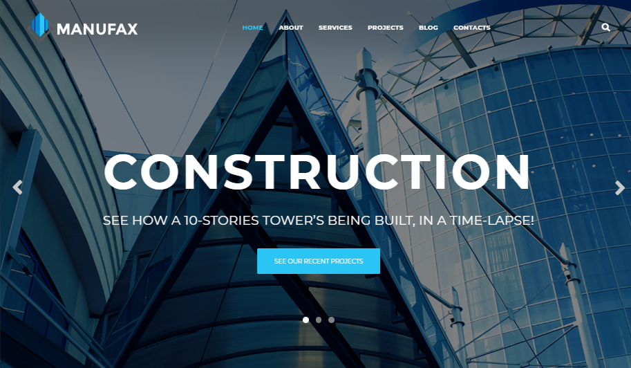 Manufax architecture WordPress theme