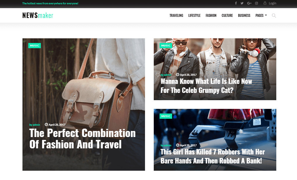 newsmaker best WordPress magazine theme