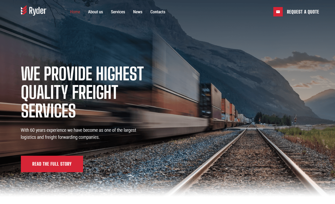 logistics WordPress themes