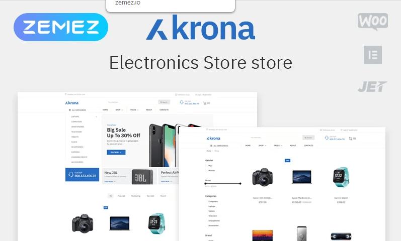 WordPress electronics eСommerce themes