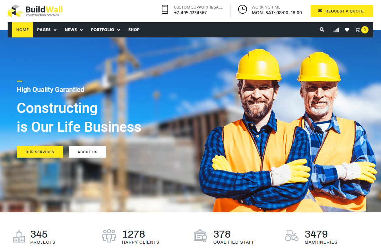 construction multipurpose wordPress theme