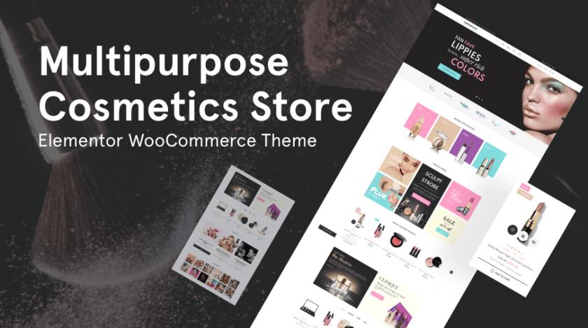 cosmetics store Elementor WooCommerce theme