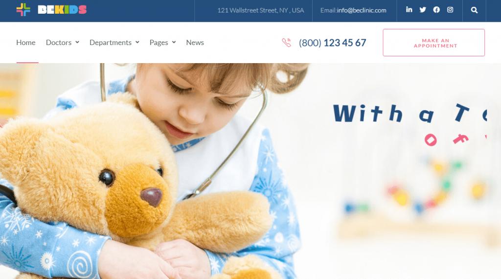 multipurpose medical WordPress theme