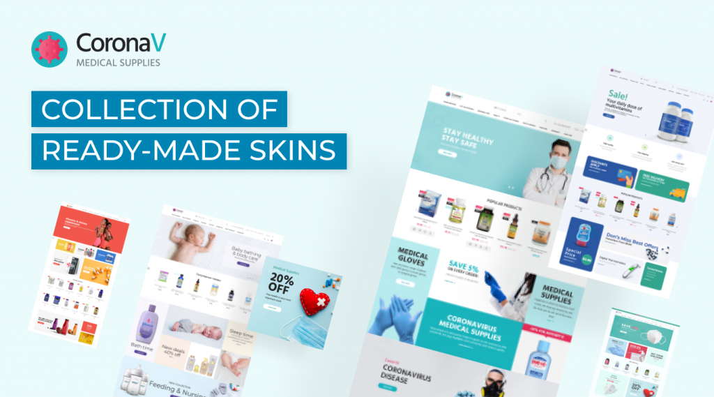 medical supplies ecommerce template