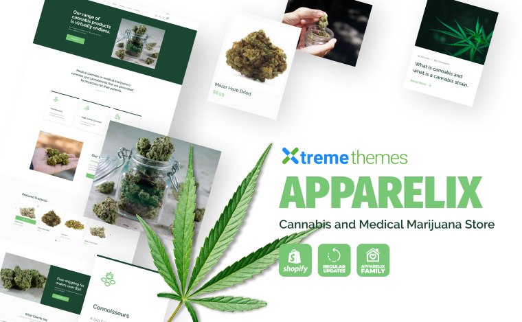 cannabis and medical marijuana store shopify theme