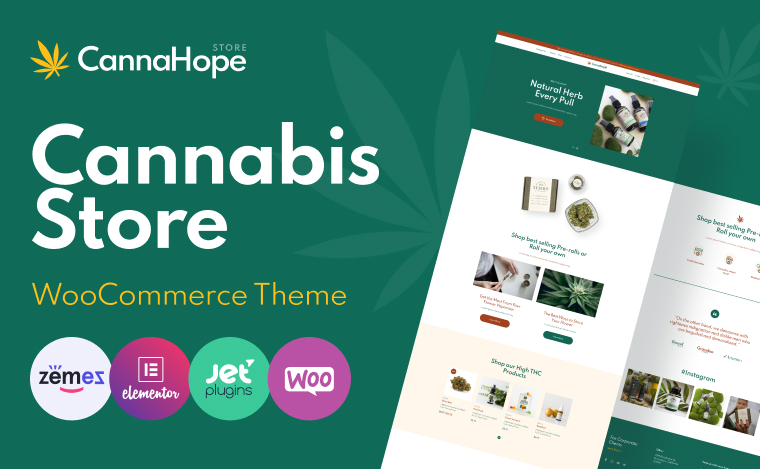 medical marijuana and cannabis woocommerce theme