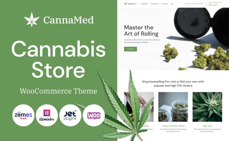 stylish medical marijuana woocommerce theme