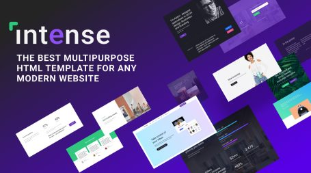 Intense: Best Multipurpose HTML Template