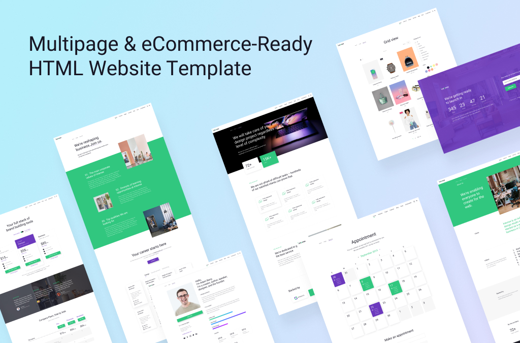 Best Multipurpose HTML Template: Multipage & eCommerce-Ready Solution