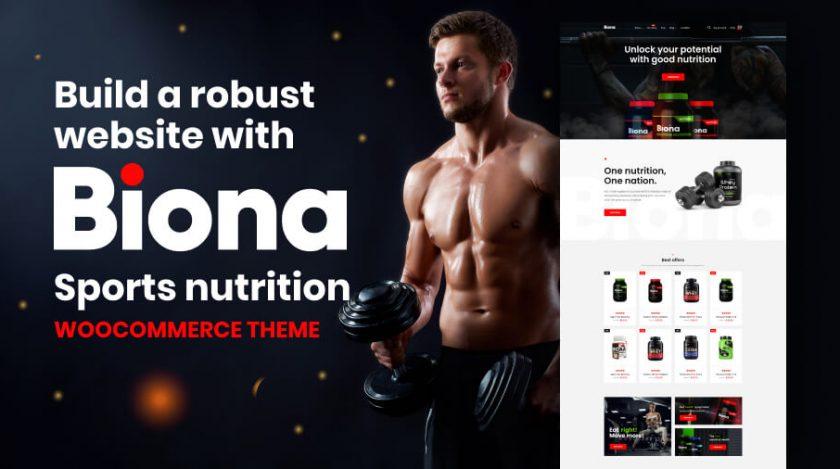 sports nutrition WooCommerce theme