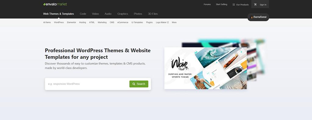 EnvatoMarket & ThemeForest Website