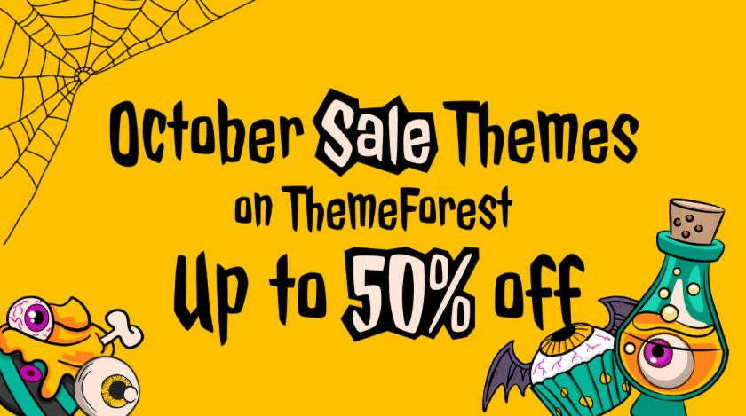 October Sale Themes on ThemeForest
